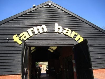 An outside view of the barn